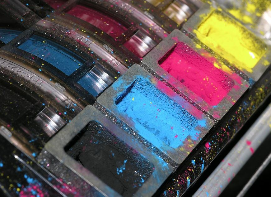 kolorowy tusz do drukarki